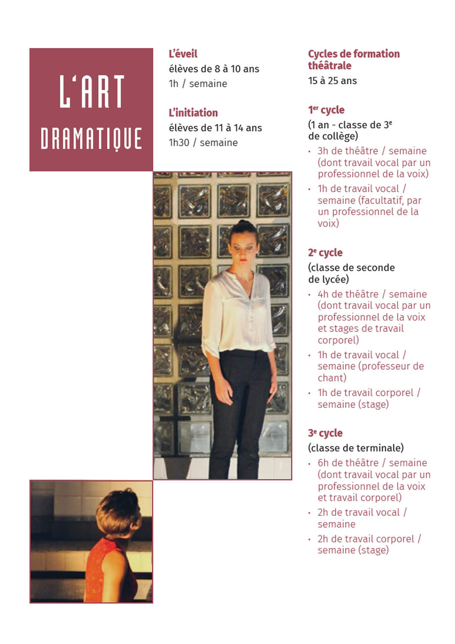 Art dramatique au Conservatoire 2019-2020