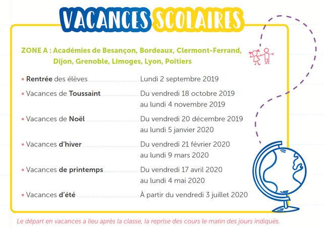 Calendrier Des Vacances Scolaires 2020 2019.Calendrier Des Vacances Scolaires 2019 2020