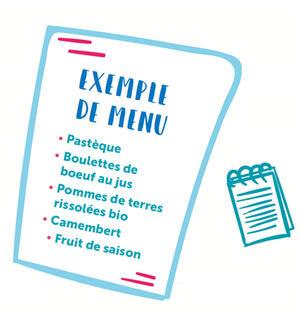 Exemple de menus scolaire