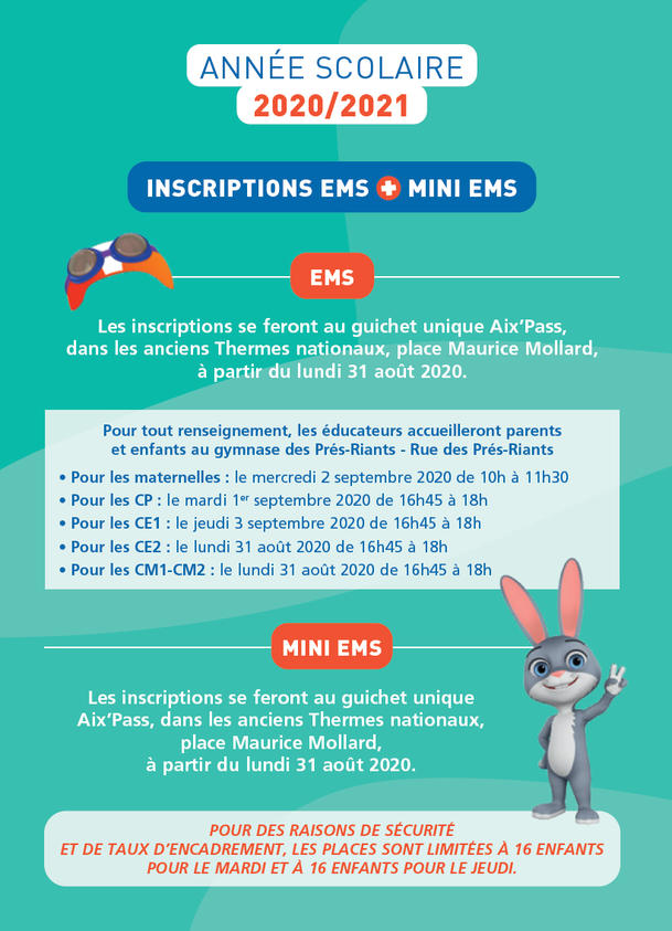 Inscriptions 2020-2021 EMS